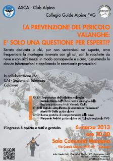 Prevenzione pericolo valanghe - pdf