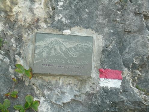 targa del sentiero Dalla Marta